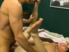 Kyler Moss gets fucked anally by a mature stud