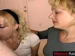 Blonde mature isnt shy when it comes to sucking dick