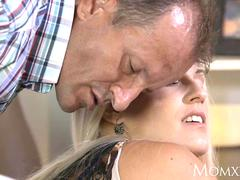 MOM After oil massage and ass licking she gives awesome POV blowjob