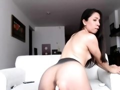 Perfect Black Haired Camgirl Masturbating For You
