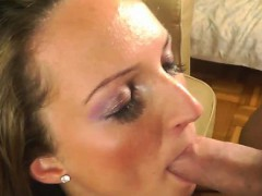 Facial loving blonde is toying dick