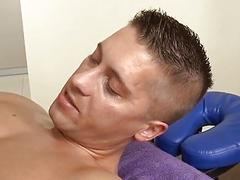 Dude is delighting twink with wet oral stimulation