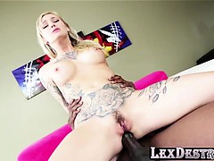 Hot tattooed Kleio Valentien gets an anal fuck with Lex