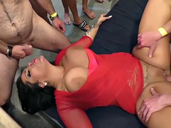 gangbang party with busty milf ashley cum