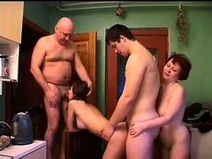 Old and young couples embark on a wild sexual experience