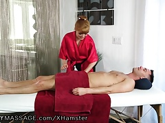 FantasyMassage Penny Lets Client in her Ass