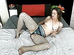Hot milf tease sucks her toes erotically