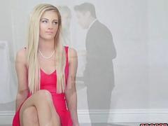 Teen lesbian Amara licks stepmoms pussy