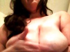 Slapping Her Big Nipples