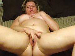 Blonde MILF Masturbates