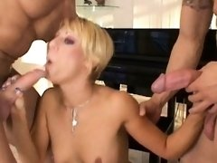Blonde hoe bent over and taken from behind