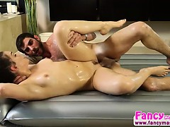 Lovely brunette Kimber Woods ends up fucked