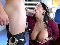 Lylith Lavey gets pounded by hung security guard at the office.