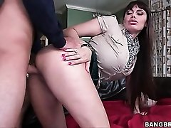 Teen watches busty mom get fucked doggystyle