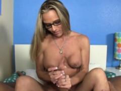 Titty pierced milf tugging a dick pov style