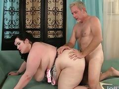Enticing Plumper Eliza Allure Has Her Flessy Pussy Stuffed Full of Cock