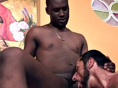 muscle stud white gay gets nailed by black thugs