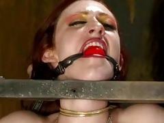 Bound slave girl receives hard punishment and torment BDSM porn