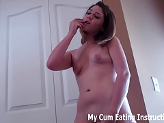 Eat your cum for me after you blow JOI