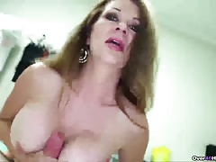 Sexy mature lady treatment