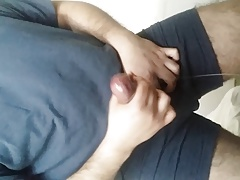 My fat mushroom cock head dripping precum