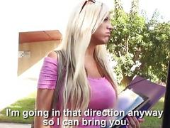 Teen Blondie gets a free ride and cum