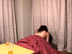 Exciting Japanese girl with perky boobs fucks a hard shaft