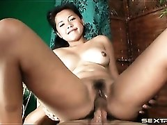 Adorable Asian amateur slowly fucked in the cunt