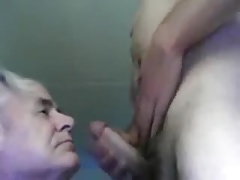Grandpa sucking a other men