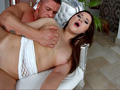 russian newcomer cherry bright gets ass fucked in spoon