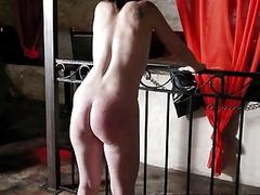Submissive slave takes it in the ass from master BDSM