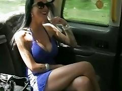 Busty passenger ass banged by the driver