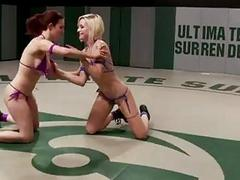 Female combat with sex toys