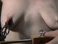 Hotty gets hardcore clamping for her huge racks