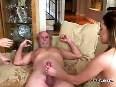 Wild Teens Fuck Rich Old Guy To Pay Rent