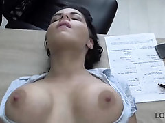 Loan boss knows how to charge every fee, and luvs to smash cock-squeezing backside of Alex