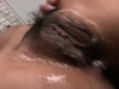 Cute asian nurse extreme fingerfucked and toyed in threesome