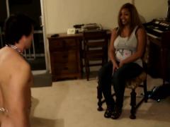 Feet massage for my black mistress