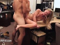 Amateur chick penetrated by horny fucker