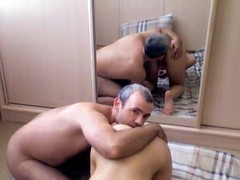 Pair to fuck in front of the mirror