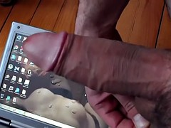 He bought a tablet so that he can cum on it