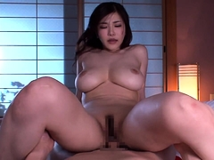 Sultry Asian wife with amazing big tits enjoys a hard shaft