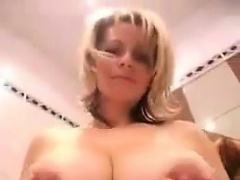 Busty Blonde MILF Being A Tease