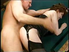 Hot brunette wife gets her face and pussy fucked by a horny stud