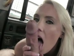 Gorgeous blonde babe receives a creampie