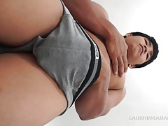 Straight Asian Jesse Tickled and Jacking