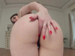 Chesty Lucia Love strips and play with her cunt