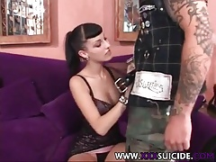 XXX Suicide tattooed and pierced punk sex