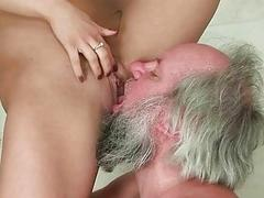 Nikky Torne fucking and humiliating a grandpa