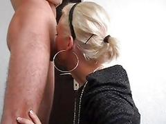 Cutie on her knees gets ass fucked hard